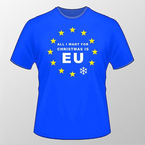 Pro EU Christmas T Shirt | Xmas Gifts | European Union Merchandise | Anti Brexit Clothing | Pro Europe Tee