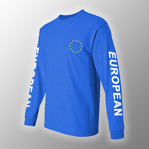 European Long Sleeved T Shirt | Anti Brexit Clothing | Let Us Be Heard | European Union Gifts | Stop Brexit Merchandise