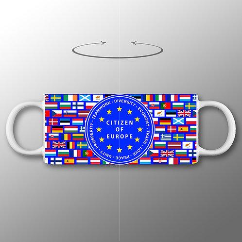 EUnity Mug | Pro EU Merchandise | Anti Brexit Gifts | Citizen of Europe | EU Flag Mug | I Heart EU