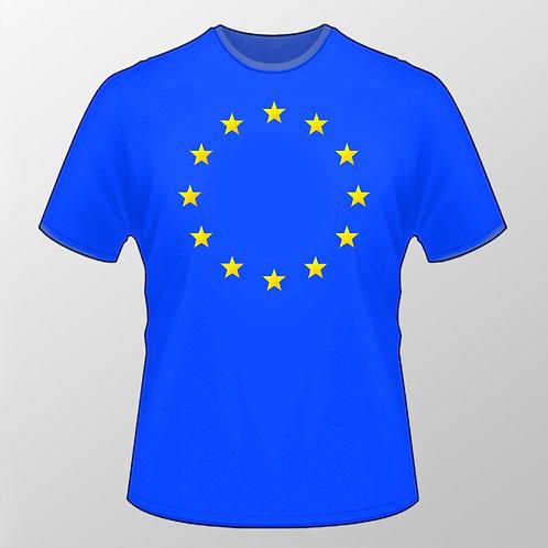 EU Flag T Shirt | European Union Merchandise | Remain Gifts | Stop Brexit Shop | I Heart EU | Peoples Vote T Shirt