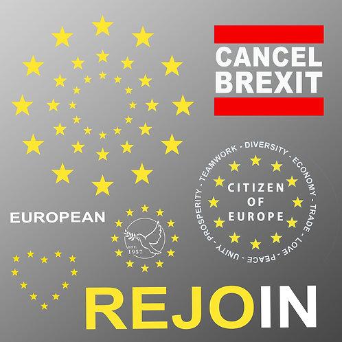 EU Flag 'Iron On' Transfer Pack
