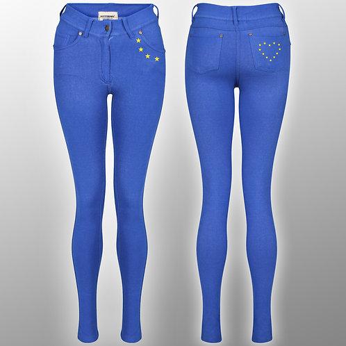Pro EU Juggings | European Union Style Apparel | Stop Brexit Fashion | Ladies | Leggings | Jeans