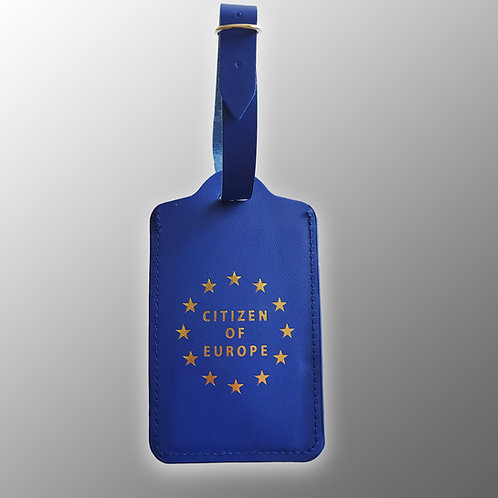 Citizen of Europe Luggage Tag | European Union Gifts | Anti Brexit Merchandise | I Heart EU