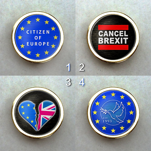 EU Gold Plated Pin Set | European Union | Remain Gifts | Merchandise | Cancel Brexit