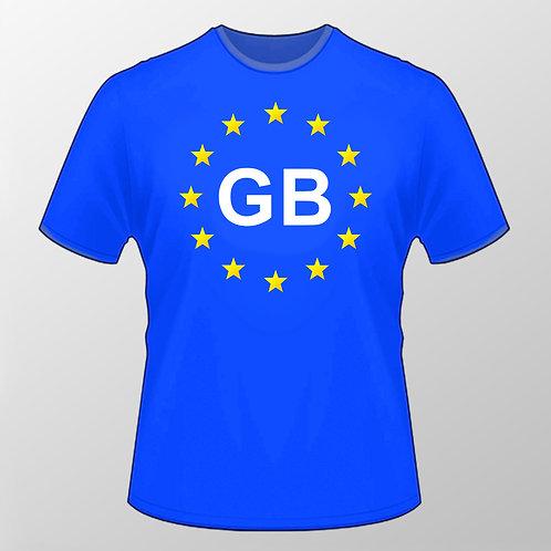 Pro EU GB T Shirt   European Union Merchandise   Remain Gifts   Stop Brexit Shop   Europe Merch