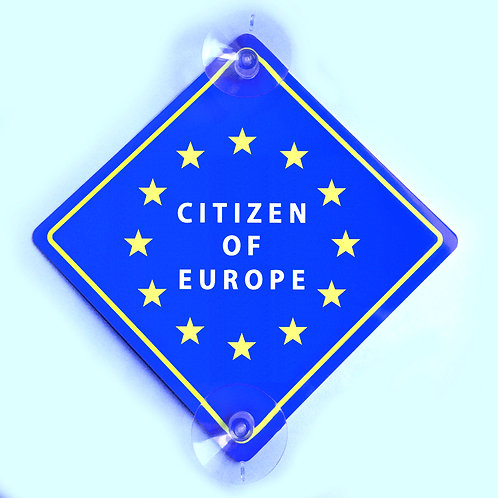 Car Window Sign Citizen of Europe - EXPRESS DELIVERY