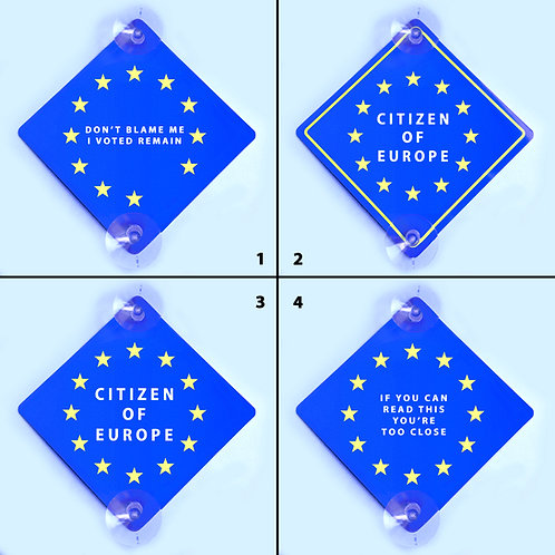 EU Car Window Sign