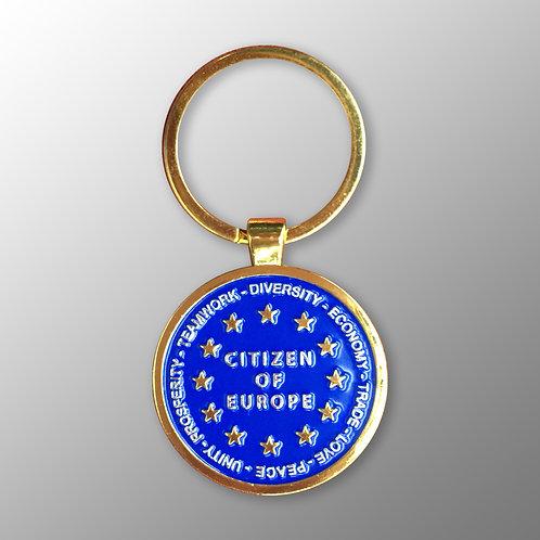 Pro EU Keyring | Citizen of Europe | Pro EU Merchandise | Gifts | Keyfob | I Heart EU