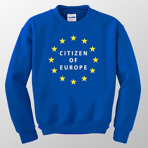 Citizen of Europe Jumper   EU Sweatshirt   Stop Brexit Clothing   Anti Brexit Merchandise   I Heart EU