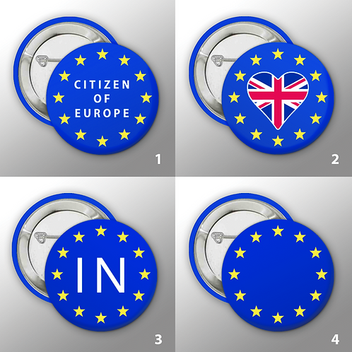 Pro EU Badges | EU Citizen Badge | Citizen of Europe Badge | Anti Brexit Badge | Pro EU Merchandise | I Heart EU