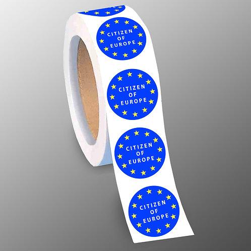 Pro EU Stickers | Citizen of Europe 40mm Stickers | Anti Brexit Stickers | Pro EU Merchandise | Pro EU Gifts | I Heart EU