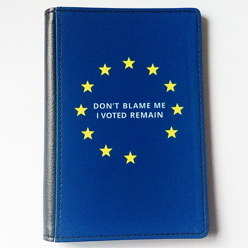 Don't Blame Me I Voted Remain Passport Cover | European Union Merchandise | Remain Gifts | Stop Brexit Shop | I Heart EU