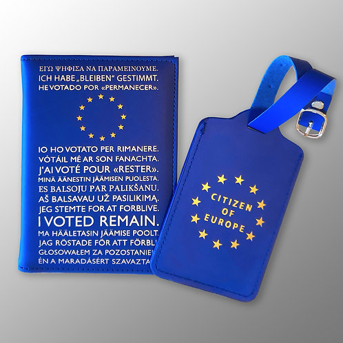 Pro EU Passport Cover and Luggage Tag Set