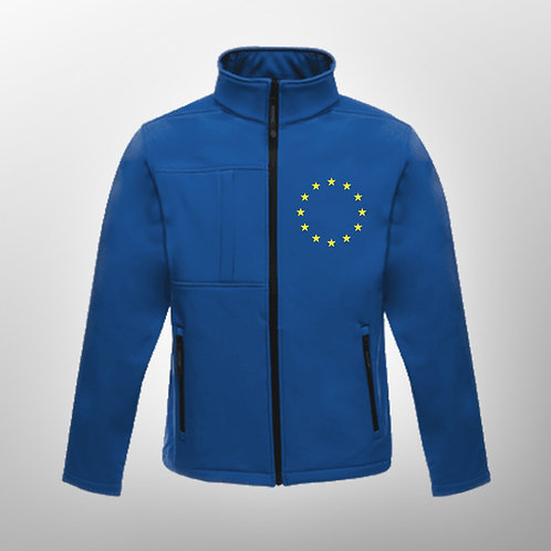 Pro EU Mens Softshell Jacket | Winter | Coat | Clothing | Apparel | Gifts | Merchandise | European Union | Anti Brexit