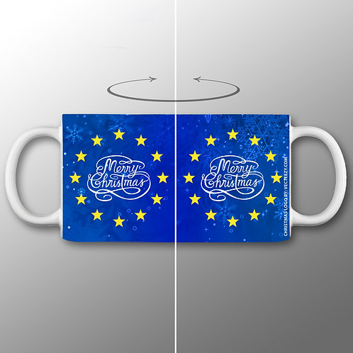 Merry Christmas European Union Mug   Anti Brexit Merchandise   Pro EU Gifts