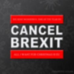 Christmas CANCEL BREXIT | Pro EU Social Media Profile Images | European Union | Brexit