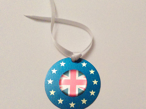 Europrean Union UK Christmas Bauble