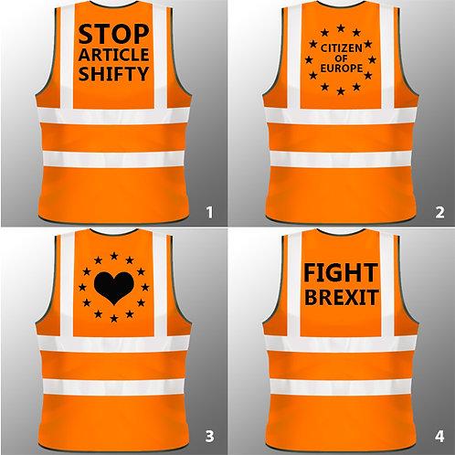 #FIGHTBREXIT European Union High Visibility Vests - Various Designs