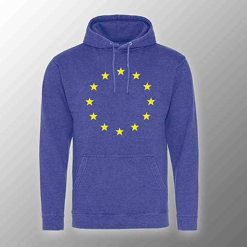 Pro EU Washed Hoodie | Winter | Coat | Clothing | Apparel | Gifts | Merchandise | European Union | Anti Brexit
