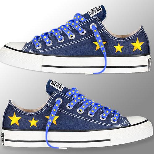 Pro-EU Converse | Pro EU Shoes | Anti Brexit Merchandise | European Union Gifts