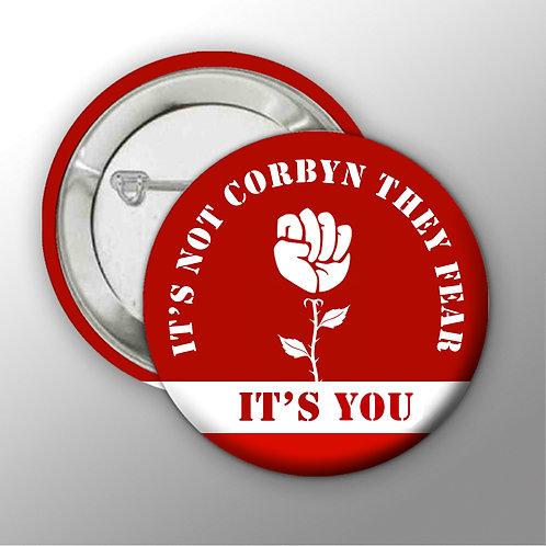 Rose Fist Button Badges