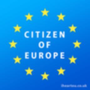 Ciizen of Europe | European Union Pro EU Social Media Images, Gifts, bollocks to brexit, stop article 50, EU merchandise, eu gifts, word up design, europa, Flag of Europe