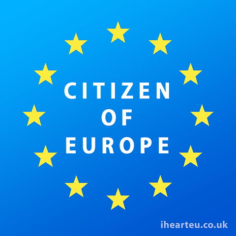 Ciizen of Europe | European Union Pro EU Social Media Images, Gifts, bollocks to brexit, stop article 50, EU merchandise, eu gifts, word up design, europa, Flag of Europe