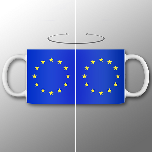 Pro EU Flag of Europe Mug | European Union Merchandise | Remain Gifts | Stop Brexit Shop | Europe Merch | I Heart EU
