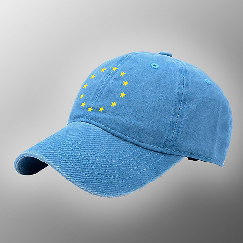 Flag of Europe Denim Hat | Anti Brexit Merchandise | Stop Brexit Clothing | Let Us Be Heard March | Remain