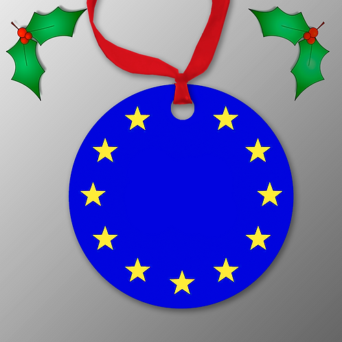Europrean Union Christmas Bauble