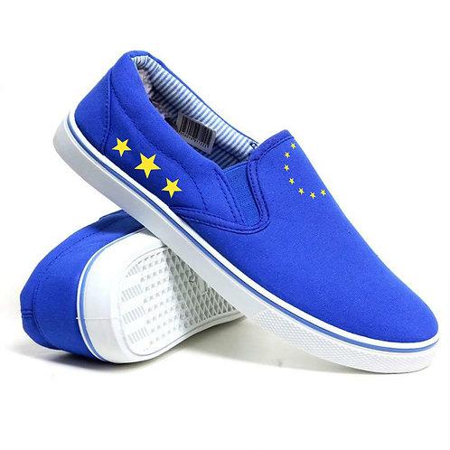 Pro-EU Men's Slip On Shoes | Peoples Vote | Anti Brexit Merchandise | European Union Gifts