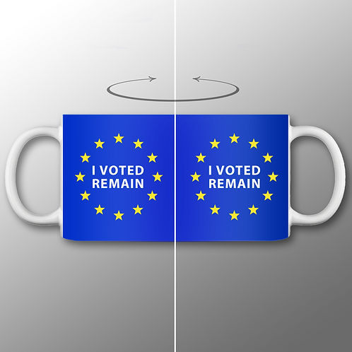 Pro EU I Voted Remain Mug | European Union Merchandise | Remain Gifts | Stop Brexit Shop | Europe Merch