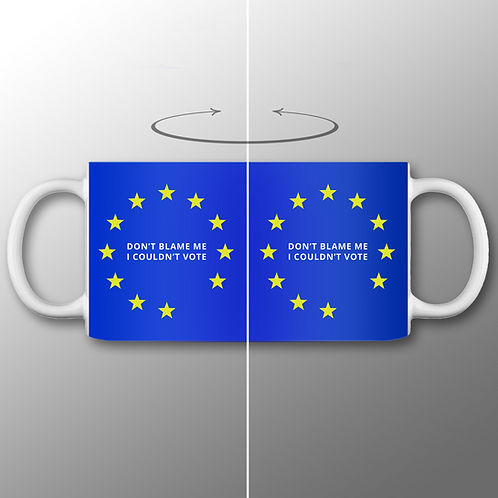 Pro-EU Mug | I Couldn't Vote | European Union Gifts | Merchandise | Anti Brexit