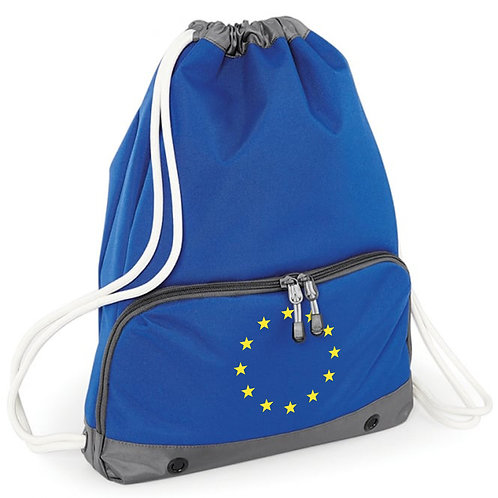 Flag of Europe - Pocketed Draw String Bag