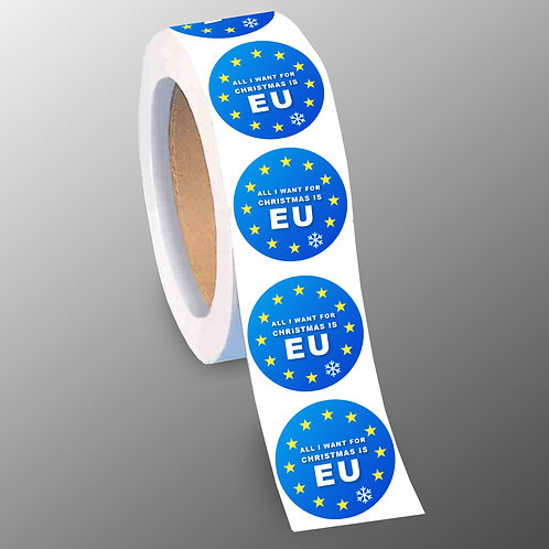 Pro EU Christmas Stickers | All I Want For Christmas is EU |  European Union | Pro EU Merchandise | Gifts | Europe