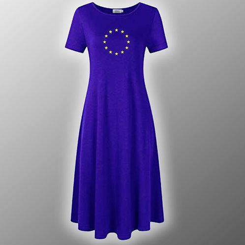 Pro EU Casual Midi Dress | Anti Brexit Clothing | Fashion | Apparel | European Union Flag