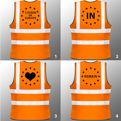 European Union High Visibility Vest - Various Designs