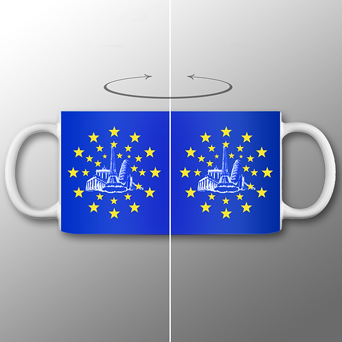 Pro EU 28 Member States Mug | European Union Merchandise | Remain Gifts | Stop Brexit Shop | Europe Merch