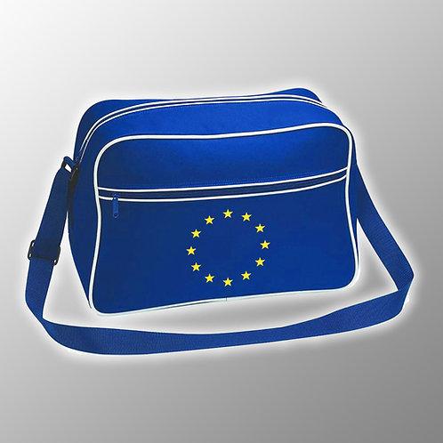 Pro EU Flag of Europe Retro Shoulder Bag | European Union Merchandise | Remain Gifts | Stop Brexit Shop | Europe Merch
