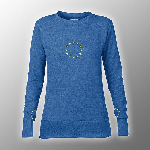 Pro EU Ladies Fashion Sweatshirt | Both Wrists | European Union Merchandise | Remain Gifts | Stop Brexit Shop | Europe Merch