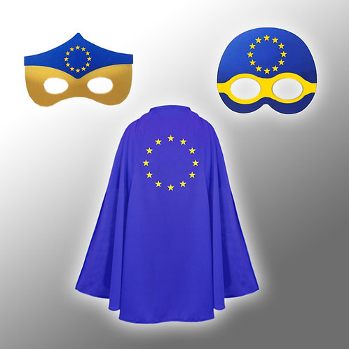 Pro EU Super Her Costume   Anti Brexit Merchandise   European Union Gifts   Fancy Dress