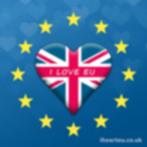 UK Heart Inside Stars | European Union Pro EU Social Media Images, Stop Brexit Collection, bollocks to brexit, stop article 50, EU merchandise, eu gifts, word up design, europa, Flag of Europe