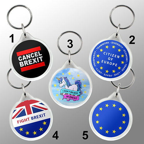 Pro EU Keyring | Anti Brexit Merchandise | Gifts | Remain in the European Union | Europe Keyfobs