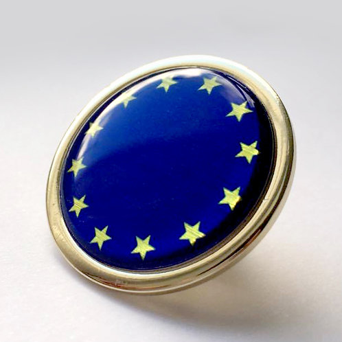 EU Gold / Nickle Plated Lapel Pin