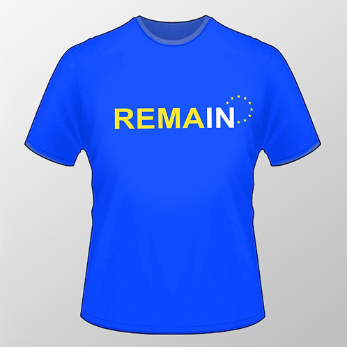 REMAIN IN T Shirt | Europe Clothing | Reverse Brexit | European Union Gifts | Pro EU Merchandise