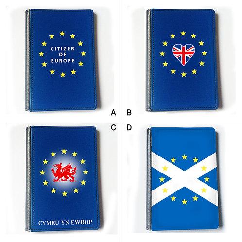 Pro EU UK Scottish Welsh Passport Cover | European Union Merchandise | Remain Gifts | Stop Brexit Shop | Europe Merch