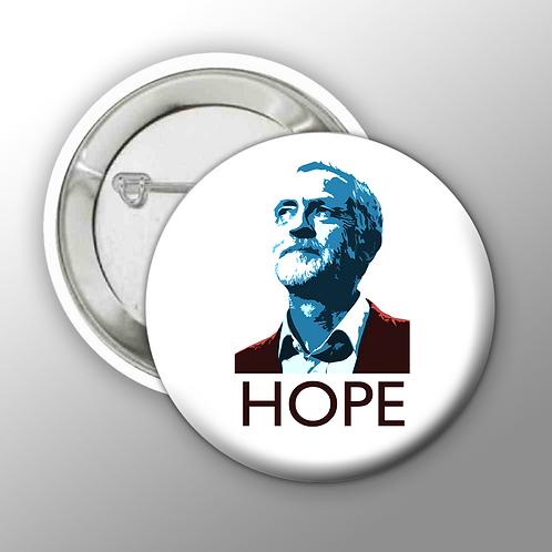Jeremy Corbyn HOPE Button Badges