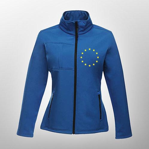 Pro EU Ladies Softshell Jacket | Winter | Coat | Clothing | Apparel | Gifts | Merchandise | European Union | Anti Brexit