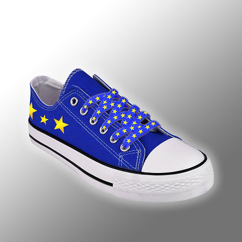 Pro-EU Canvas Shoes | Peoples Vote | Anti Brexit Merchandise | European Union Gifts