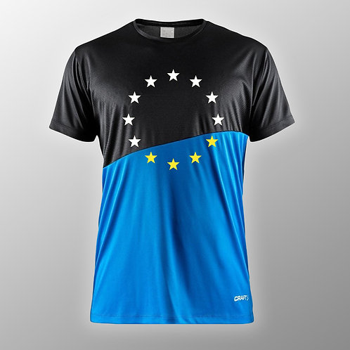 Pro EU Contrast Sports T Shirt | Anti Brexit Merchandise | European Union Gifts